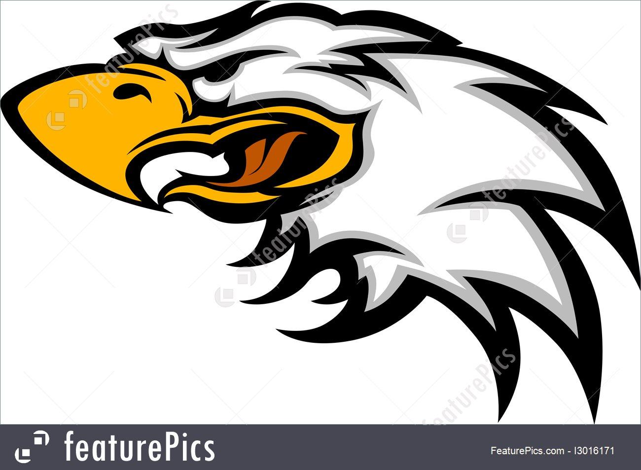 1300x953 Eagle Mascot Head Vector Graphic