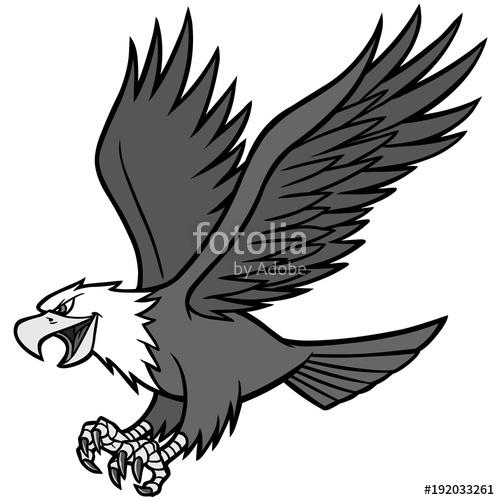 500x500 Eagle Mascot Illustration
