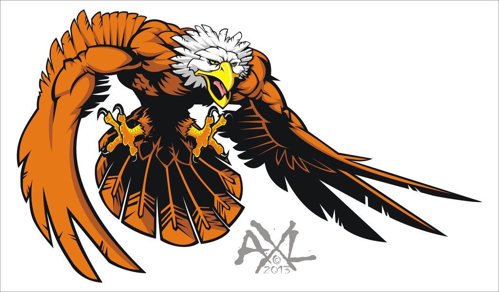 1024x600 Eagle Mascot By Cryingbear