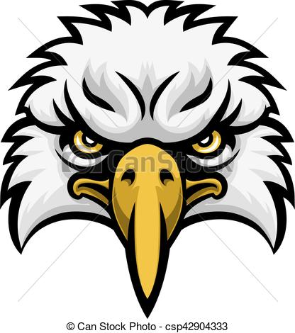 416x470 Eagle Mascot Face. A Cartoon Eagle Bird Character Sports Mascot