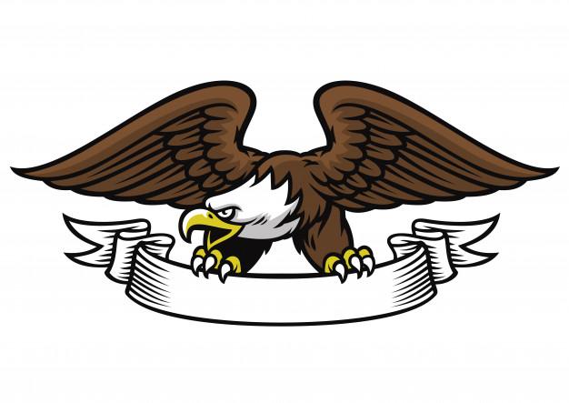 626x443 Eagle Mascot Grip The Ribbon Vector Premium Download