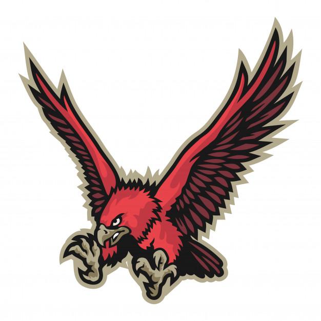 626x626 Flying Eagle Mascot Vector Vector Premium Download