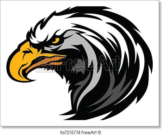 560x470 Free Art Print Of Graphic Head Of An Eagle Mascot. Vector Eagle