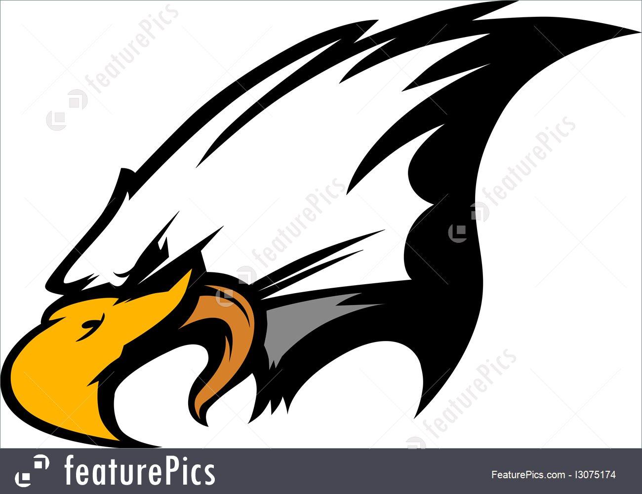 1300x1001 Mascot Head Of An Eagle Vector