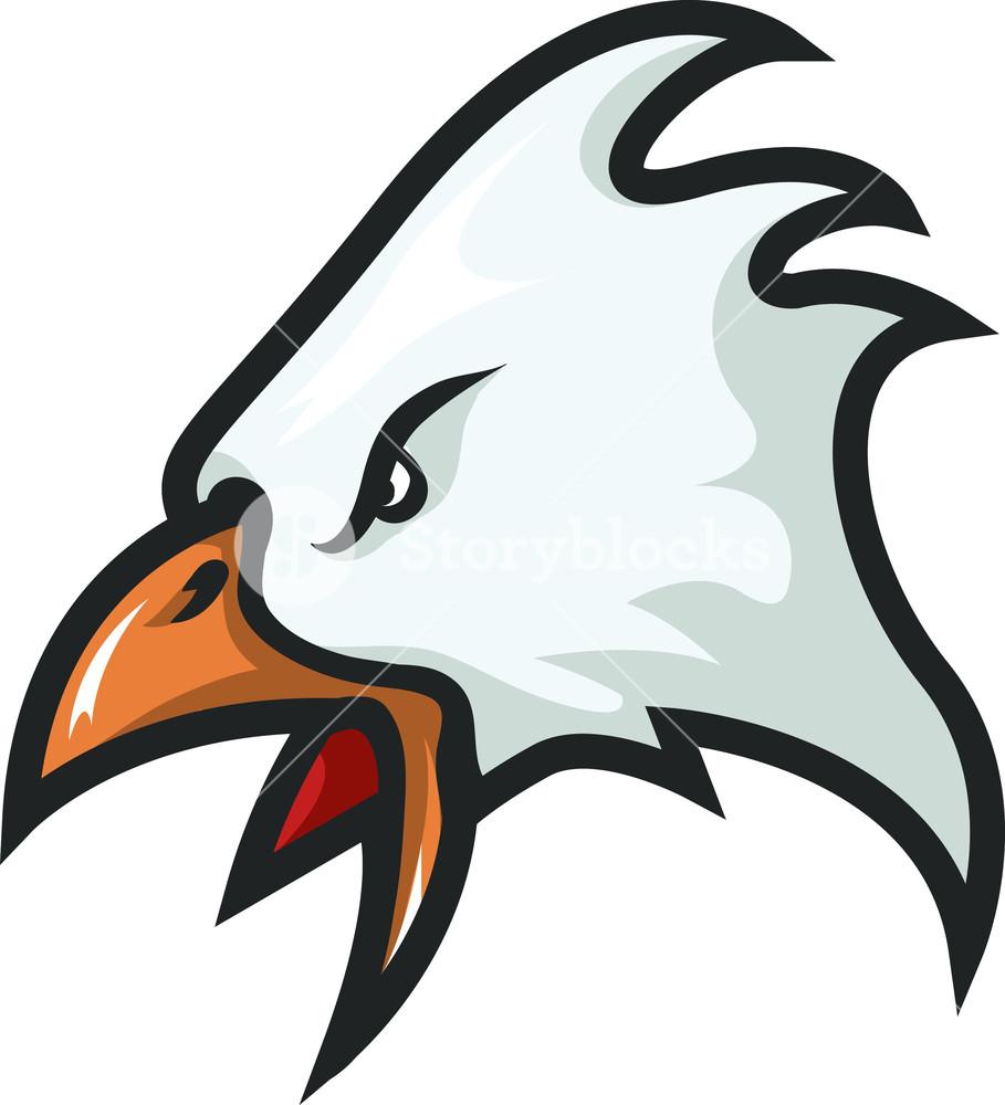 909x1000 Vector Eagle Mascot Royalty Free Stock Image