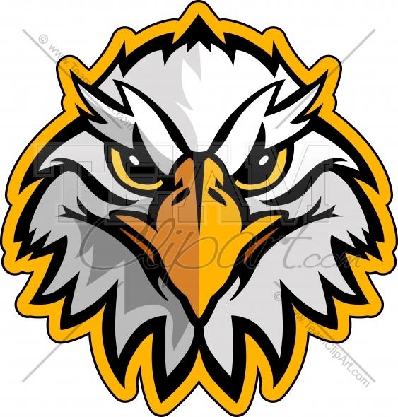 563x590 Eagle Head Logo Vector Clipart Image
