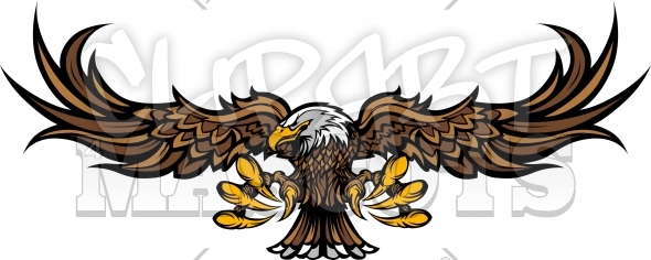 590x236 Eagle Mascot Clipart Vector Graphic