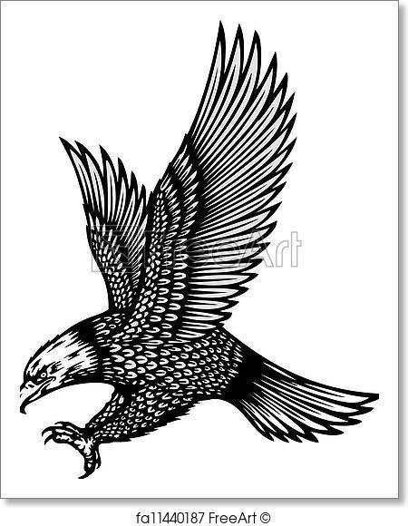 450x580 Free Art Print Of Soaring Eagle Vector Illustration Freeart