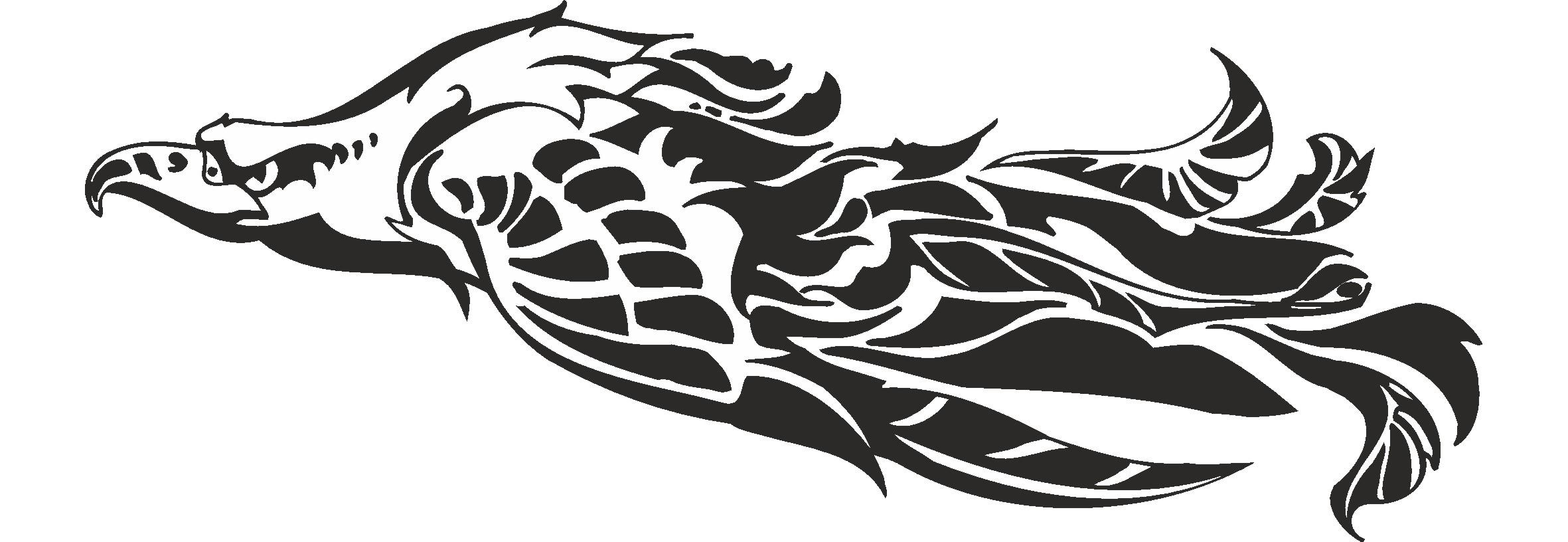 2362x816 Flying Eagle Vector Free Vector Download
