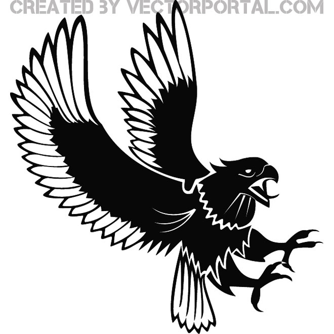 660x660 Free Attacking Eagle Vector Free Download Vectors 14442 Downloads