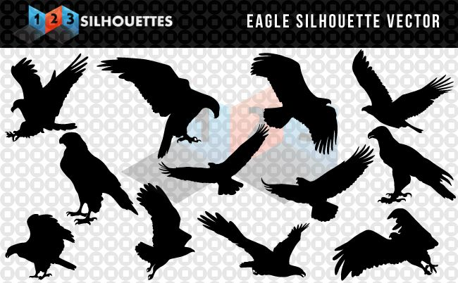 650x402 Majestic Eagle Vector Silhouette Free Download Free Eagle