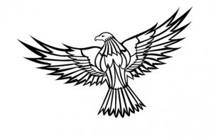 300x195 Free Eagle Clipart Flying Eagle Clipart Vector Free Download