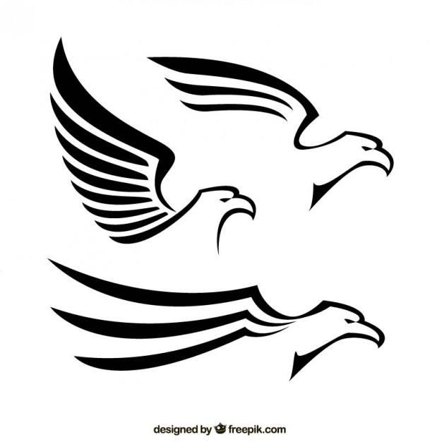 626x626 Abstract Eagles Vector Free Download