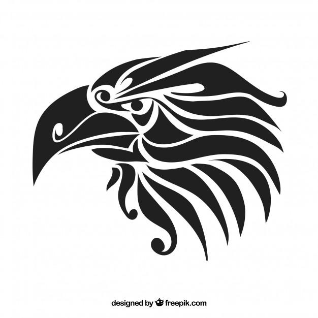 626x626 Black Tribal Eagle Vector Tattoo Vector Free Download