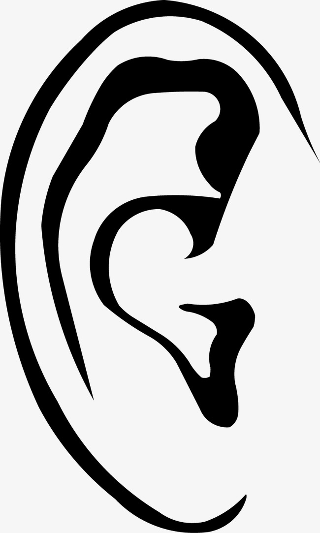 650x1083 Ear Silhouette, Ear Vector, Silhouette Vector, Vector Png And