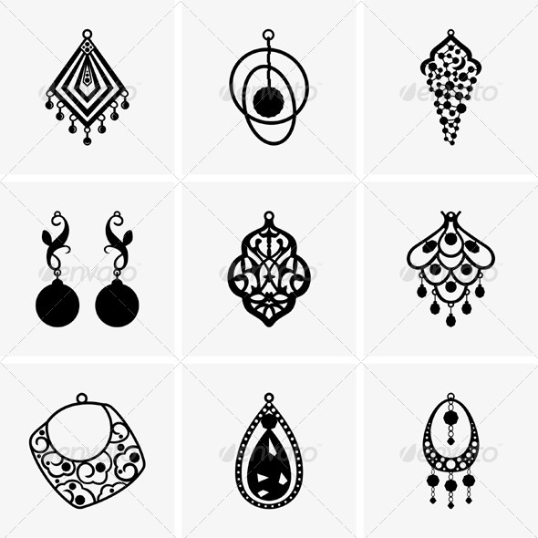 590x590 Earrings By Barbulat Graphicriver