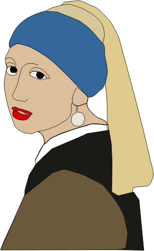307x500 Girl With A Pearl Earring Vector Graphics Public Domain Vectors