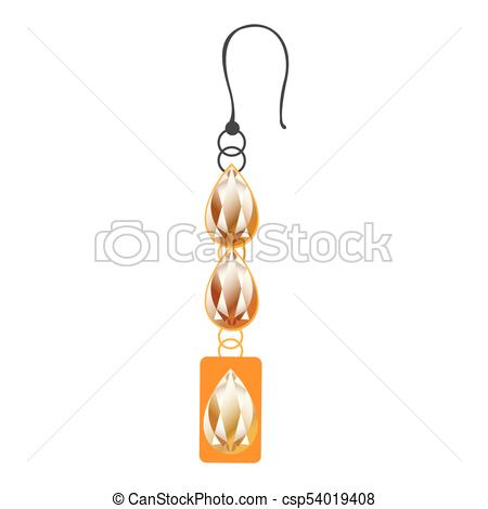 450x470 Isolated Earring Icon On A White Background, Vector Illustrtation.