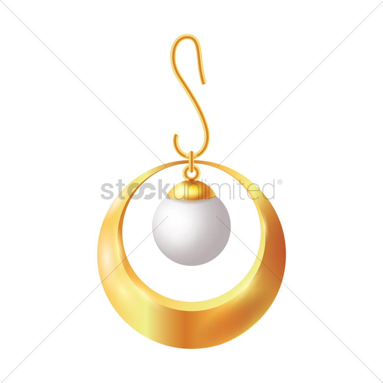 1300x1300 Pearl Earring Vector Image