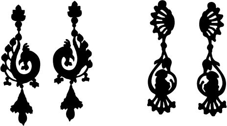 464x258 Beautiful Earrings For You Ladies! Earring Silhouette Vector For A