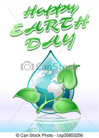 336x470 Earth Day, Vector Illustration.