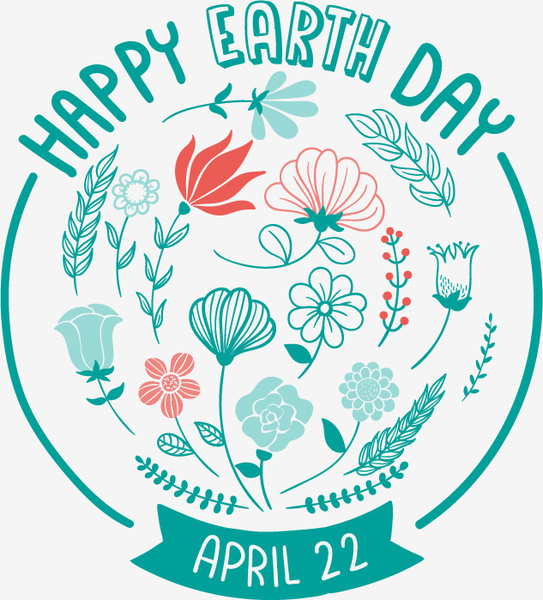 543x600 Earth Day Flower Design Vector Free Vector In Adobe Illustrator Ai