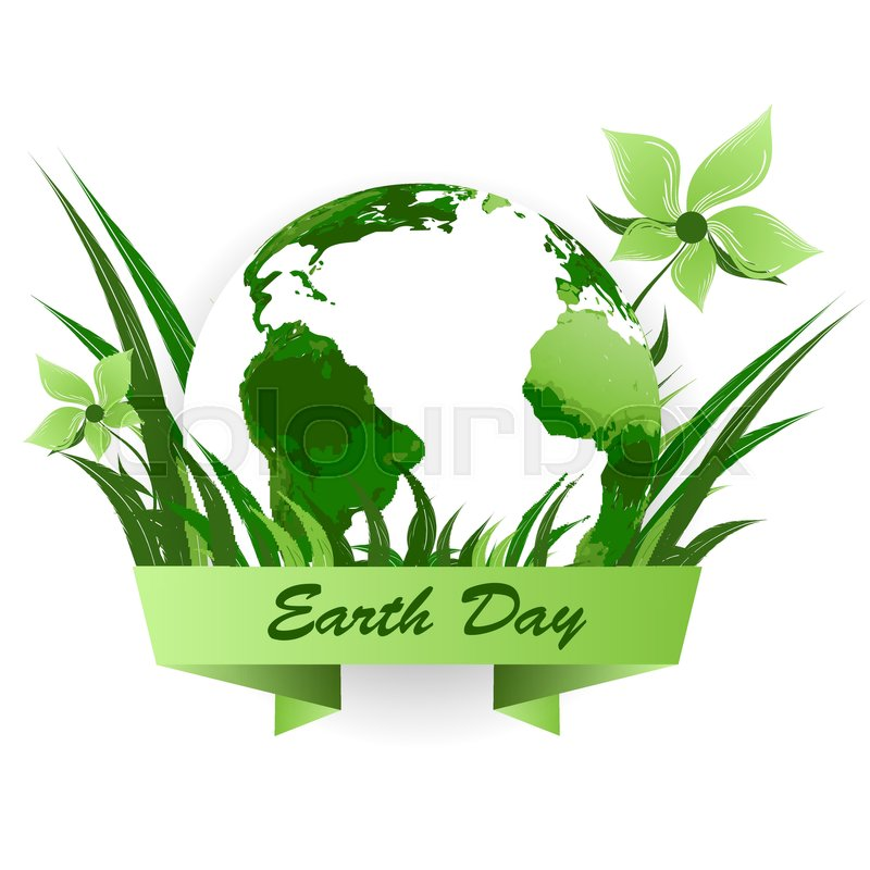 800x800 Earth Day Vector Background. Backdrop For April Event. Elements
