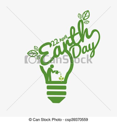 450x470 April 22nd Earth Day Vector Illustration.