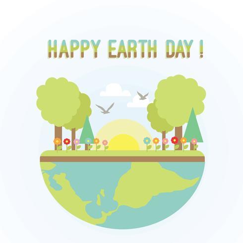 490x490 Free Happy Earth Day Vector