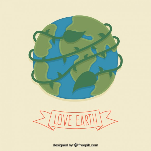 626x626 Illustrated Earth For Earth Day Vector Free Download