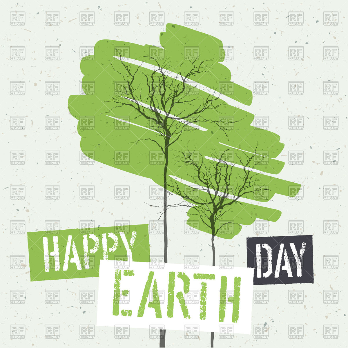 1200x1200 Typographic Design For Earth Day Vector Image Vector Artwork Of