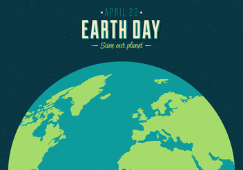 352x247 Earth Day Poster With Written World Map Free Vector Download