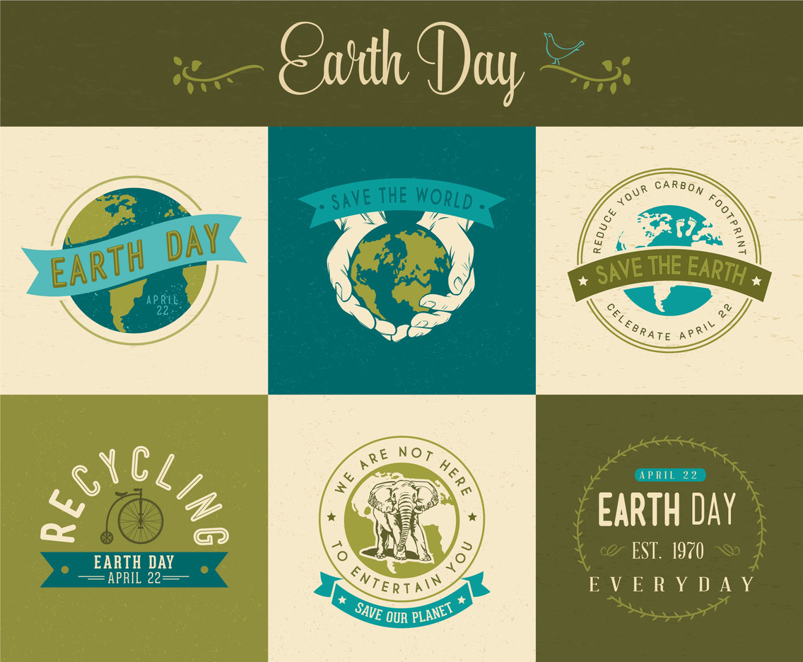1136x936 Earth Day Vector Labels Vector Art Amp Graphics