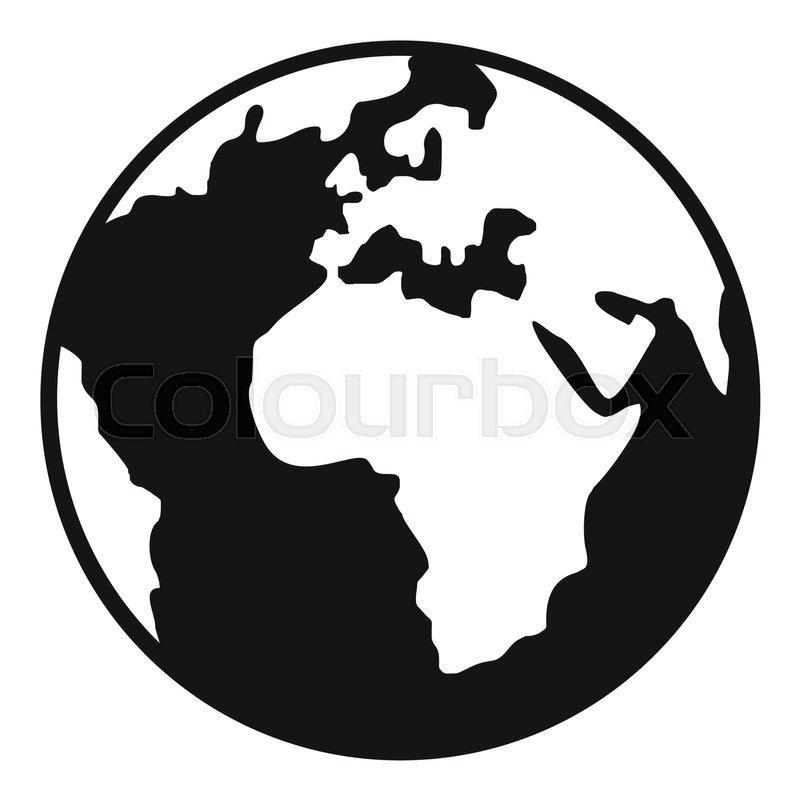 800x800 Earth Globe Icon. Simple Illustration Of Earth Globe Vector Icon