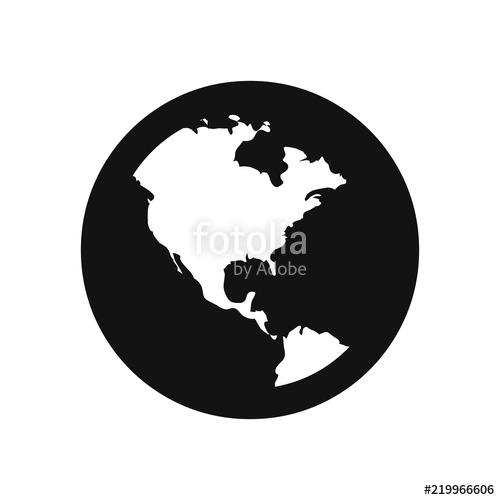 500x500 Earth Globe Vector Icon Stock Image And Royalty Free Vector Files