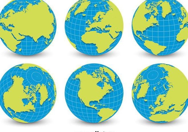 632x443 World Globe Grid Vectors Free Vector Download 356379 Cannypic