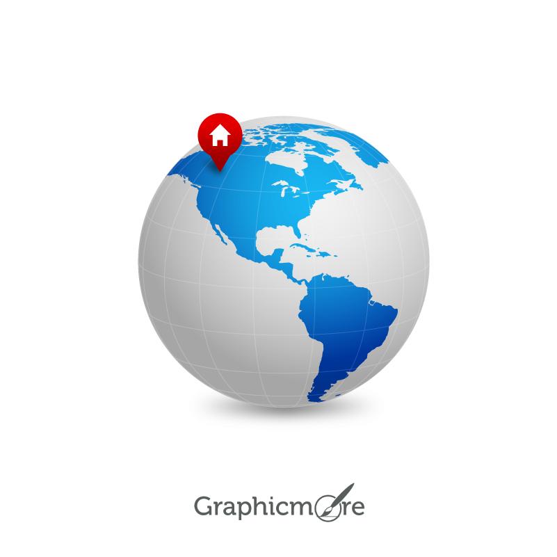 801x801 Earth Map Vector Icon Design Free Vector File Download