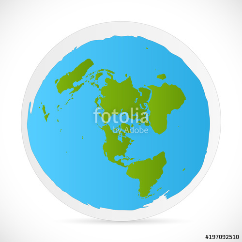 500x500 Flat Earth Illustration Stock Image And Royalty Free Vector Files