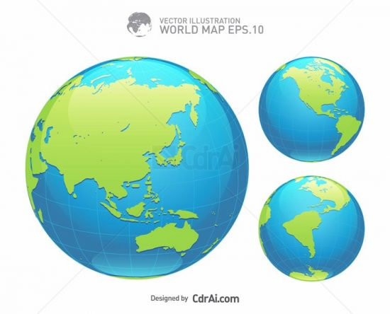 550x444 Blue Earth Globe Vector Illustration Free Download Cdr Ai Eps