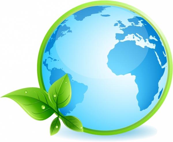 600x495 Green Earth Concept Free Vector In Adobe Illustrator Ai ( .ai