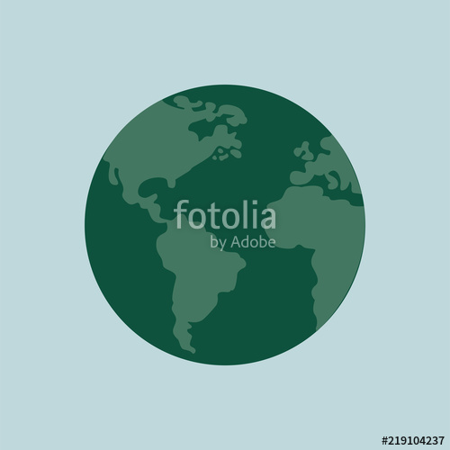 500x500 Isolated Green Planet Earth Illustration Stock Image And Royalty