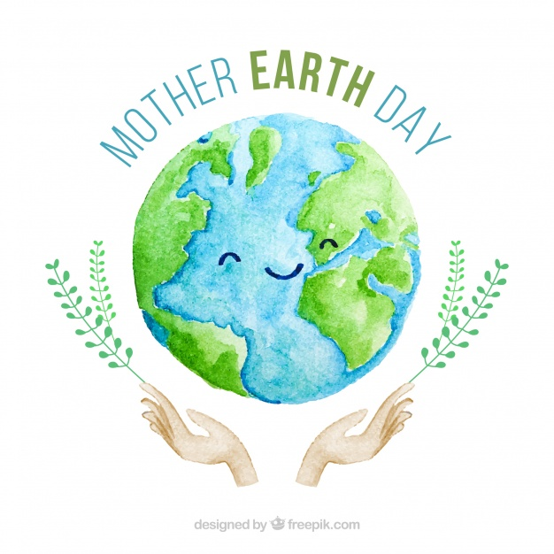 626x626 Cute Watercolour Background For The Mother Earth Day Vector Free