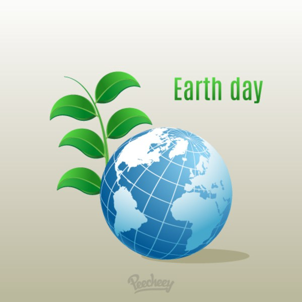 600x600 Earth Day Illustration Free Vector 123freevectors