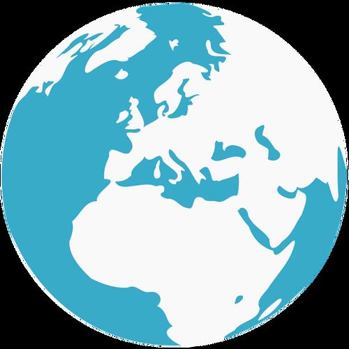 500x500 Earth Blue And Green Globe Vector Clip Art Public Domain Vectors