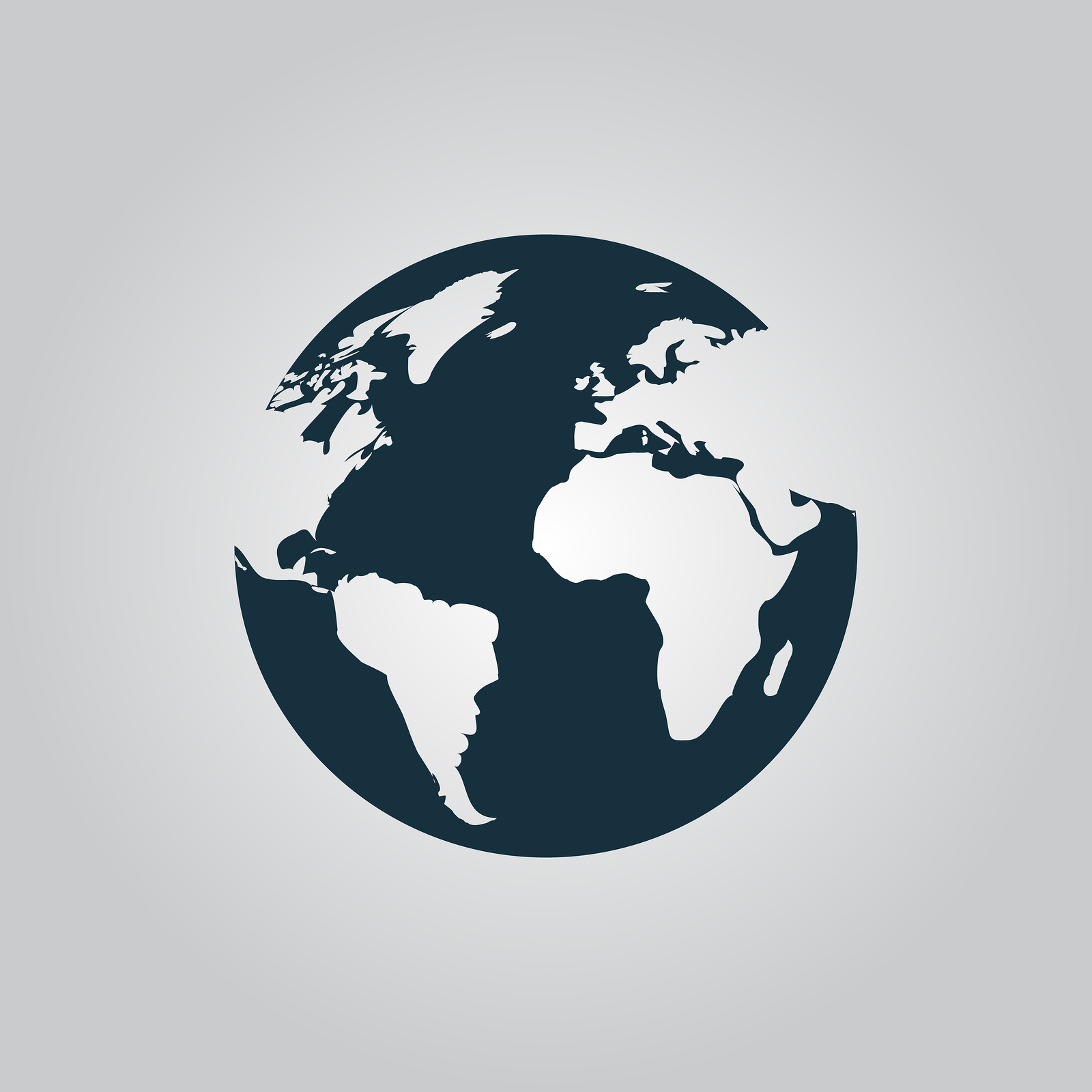 1600x1600 Globe Earth Vector Icons On Grey Background.