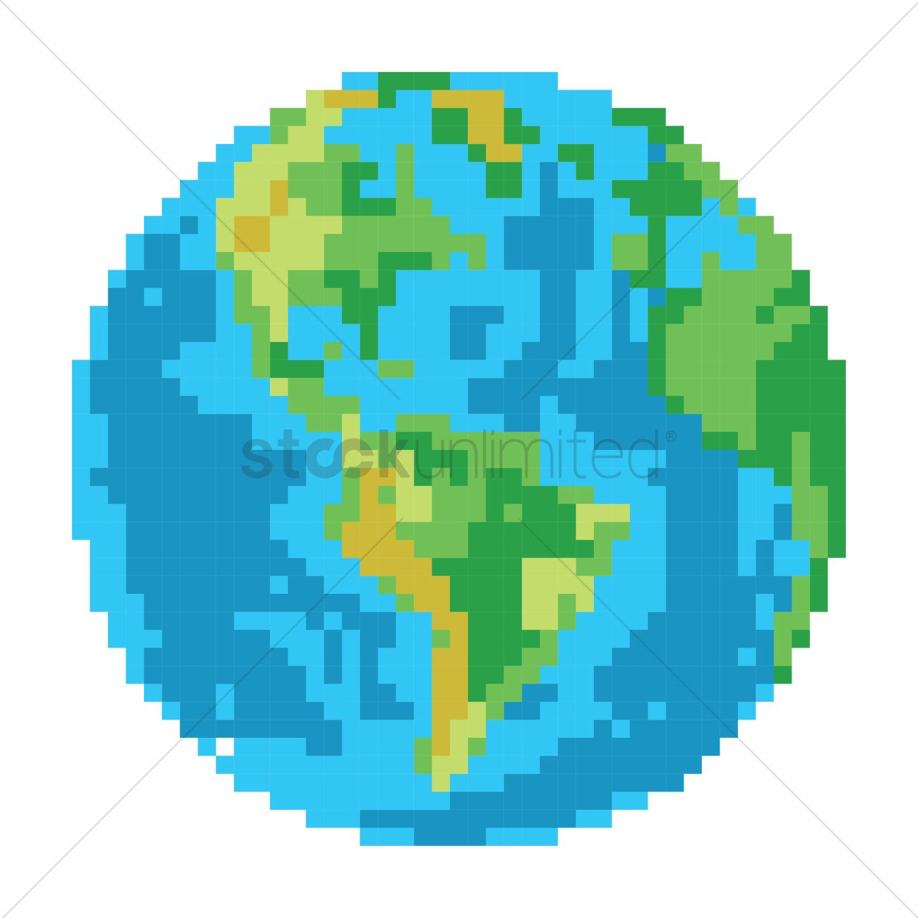 1300x1300 Planet Earth Vector Image
