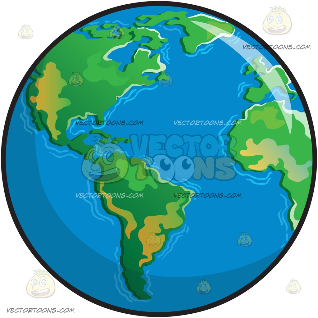 1024x1024 The Planet Earth Clipart By Vector Toons