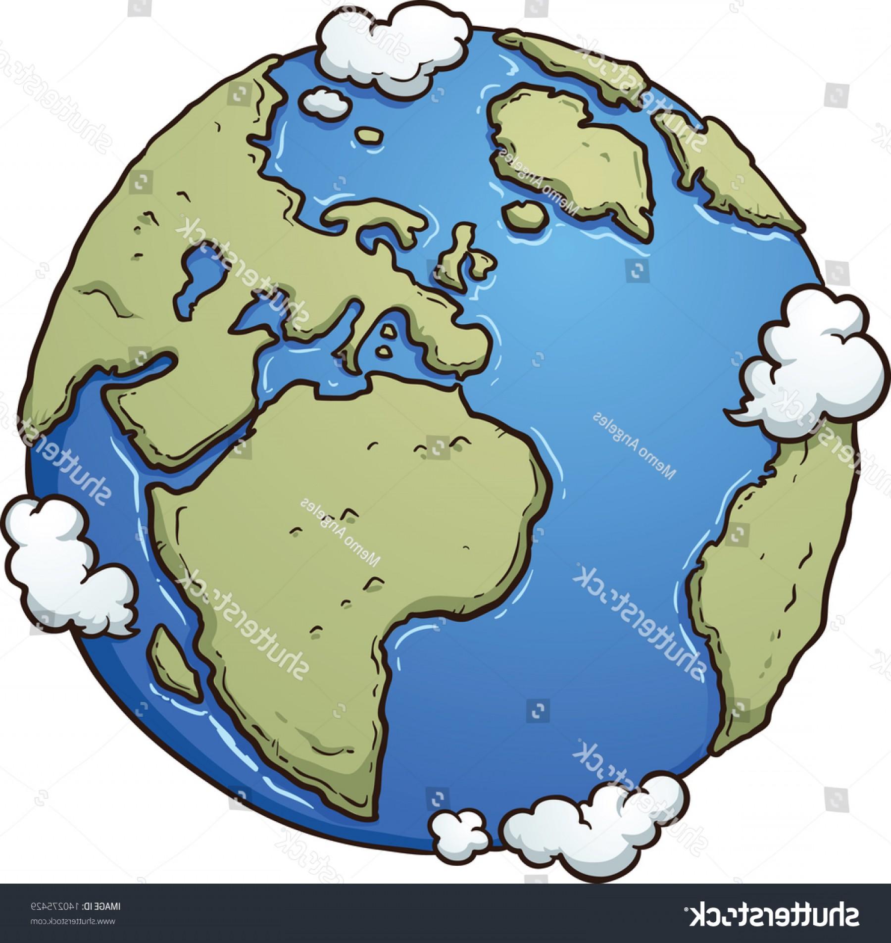 1800x1905 Cartoon Earth Vector Clip Art Illustration Orangiausa