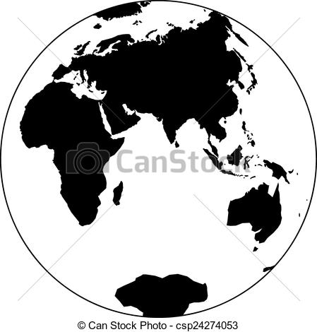 449x470 Planet Earth. Beautiful Black And White Icon Planet Earth.