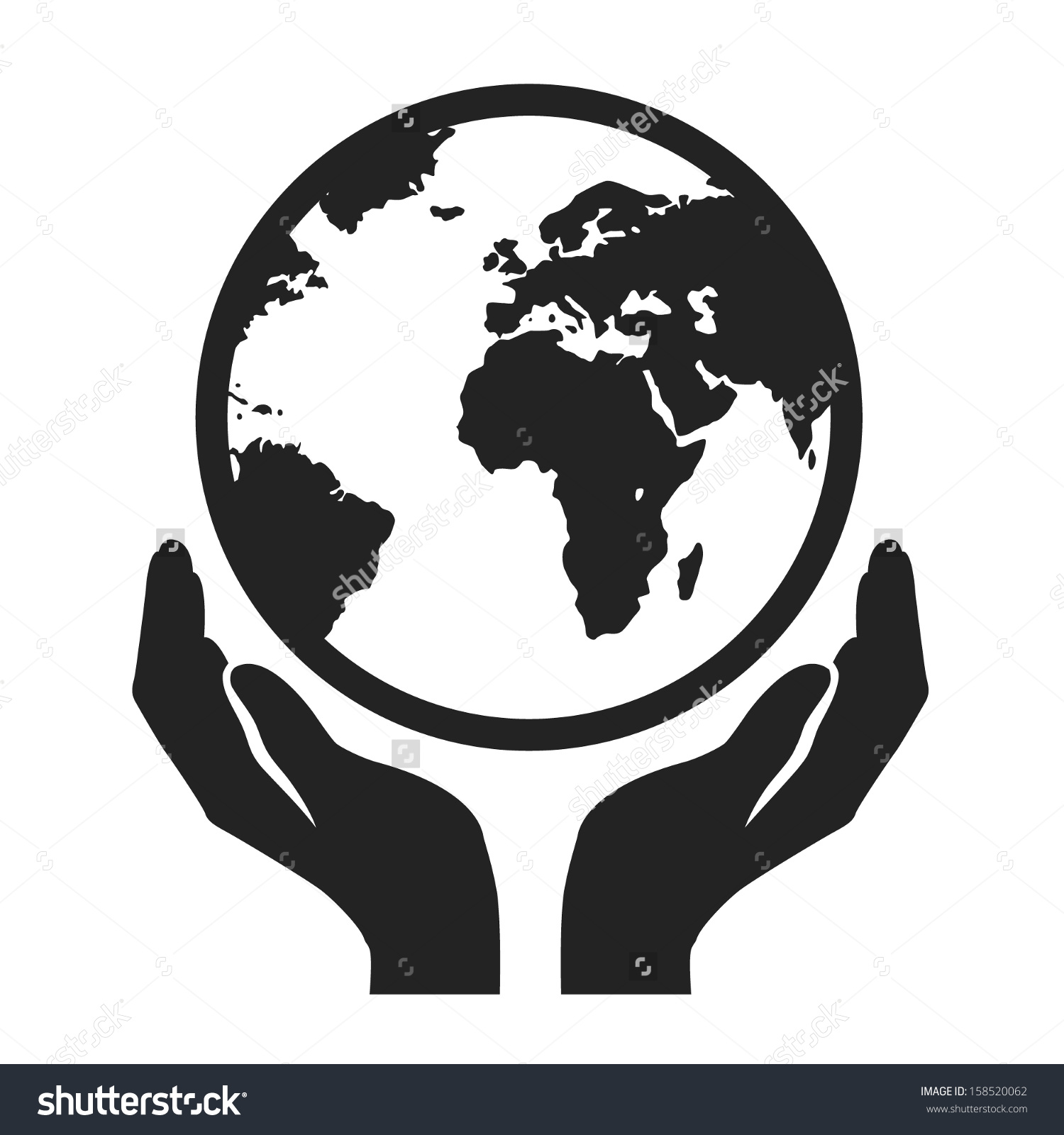 1500x1600 Globe Clipart Hand Holding